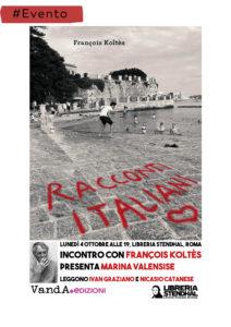 """Presentazione """"Racconti Italiani"""" di François Koltès alla libreria Stendhal, Roma"""