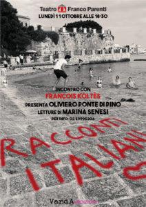 """Presentazione """"Racconti Italiani"""" di François Koltès al Café Rouge del Franco Parenti, Milano"""